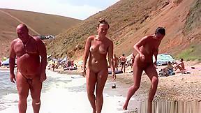 Nudist horny milfs tanning naked beach voyeur hd...