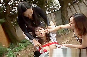 Chinese slave girl humiliated by two mistress...
