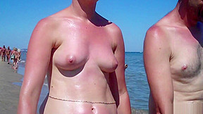 Mature beach spycam video...