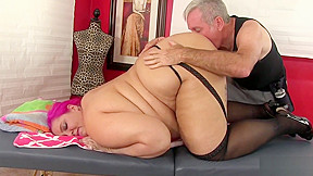 Fatty sara star receives toy massage...
