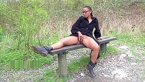 Ebony babe michelles public flashing and black cutie...