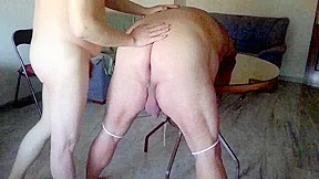 Is tied and spanked by his amateur boyfriend...