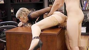 Horny seduces boss...