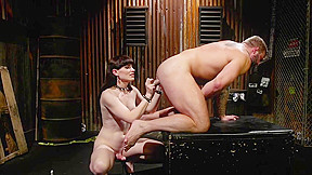 Tranny biker anal toys muscled male...