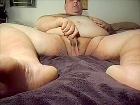 Jerks his cock on webcam...