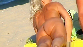 Mature blonde nudist voyeur spycam hd vid...