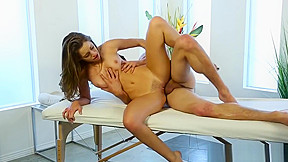 Shy man first massage with kimmy granger...