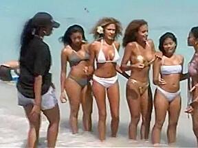 Hot beach...