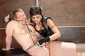 Cbt teasing with clamps...