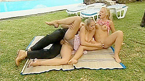 Two Blond Twins Fucked In The Ass