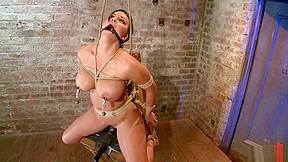 Bound in a chair with a vibrator...