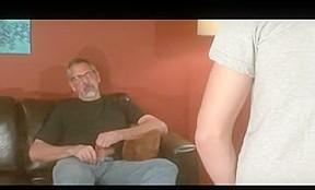 Grey beard old daddy jay taylor kiss take...