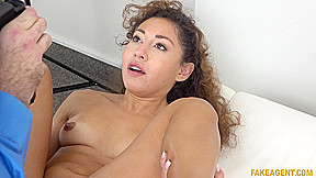 Sticky facial for latina fakeagent...