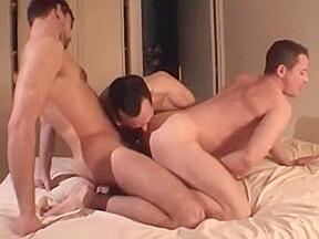 Deep intence trio sex...
