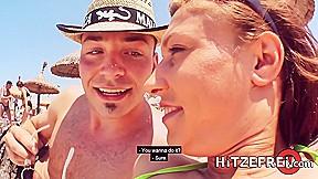Hitzefrei sidney love picked up beach...