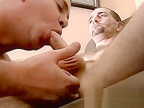 Mature amateur wanks off before getting sucked by...