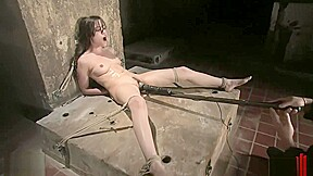 Gagged pussy flogged nipple clamped and orgasmed...