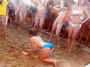Wet and wild beach contest...