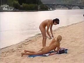 Nude girls outdoor on...