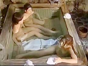 Two lesbian milf together in sauna...