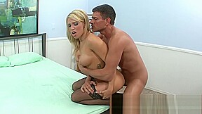 Blonde gets oil massaged and takes in a...