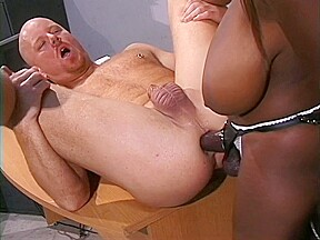 Teacher has fuck him with a strap on...