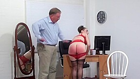 Over her dress panties barebottom by her husband...