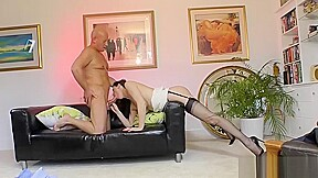 Beauty fucking and sucking before being creampied...