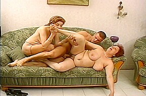 Chubby russian milfs strapping young men...