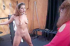 Lesbian bsmd with chains pinching...
