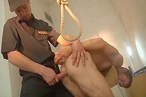 Prisoner takes police cock...