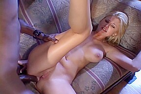 Blonde takes on dick and fucks him hard...