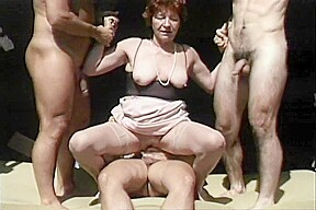 Horny milf fucked by sons...