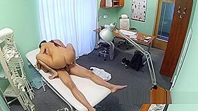 Hot brunette nurse giving massage...