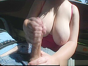Shows off her huge...