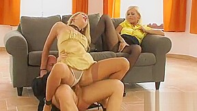 Clothed lezzie act with babes addicted to the...