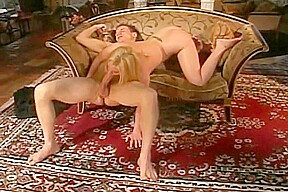 Pretty blonde woman sucking and riding it...