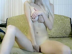 Busty blonde and creamy toying...
