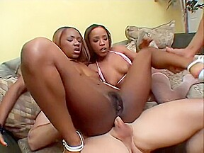 Double penetration interracial hot black ebony fuck sex...