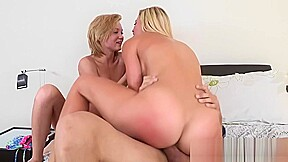 Hot blondes butts riding dick hard...