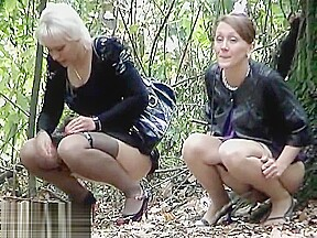 Russian pissing outdoor...