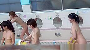 Showering asians piss...