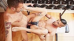 Hot horse cock fucks gay the gym at...