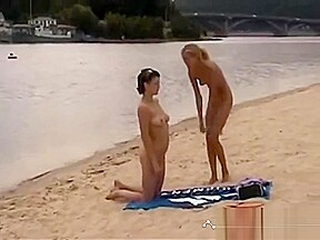 Teen girls beach...