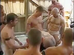 Hot daddies in piss gangbang...
