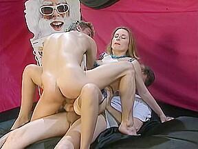 Hands get their hands on her ass...