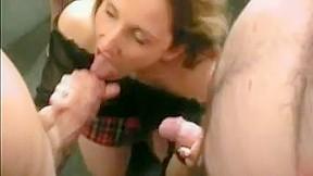 British slut claudia takes my spunk at...