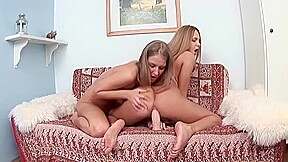 Stunning lesbians each others holes...