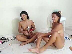Stunning nipples and having lesbian love...