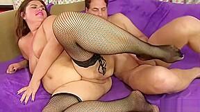 Dicked guy fucks a fatty tight ass...